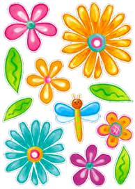 RDA1201V. Наклейки на стены, цветы. Размеры: 50х70 см. Количество: 27 элементов. Материал: ПВХ, влагостойкие.