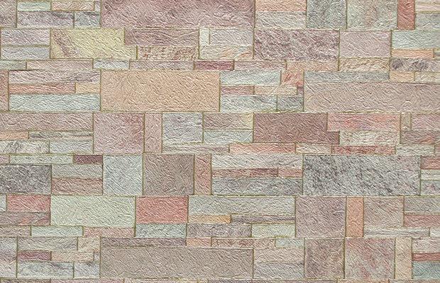 Искусственный камень. Артикул: Е5710Х. Искусственный камень компаньон.Артикул: Е5720Х.  Обои для стен на флизелиновой основе, горячее тиснение.