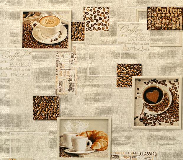 Кофейня. Артикул:9860Х.Кофейня - фон.Артикул: 9870Х. Обои  на бумажной основе.
