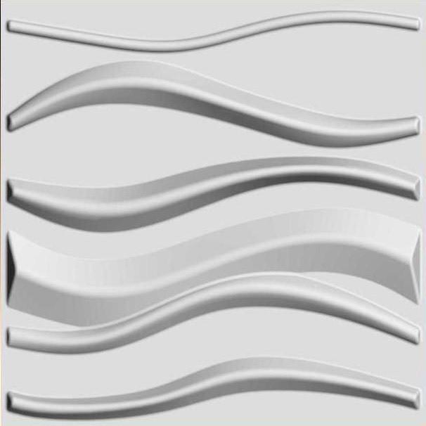 Арт. Lake. Декоративные 3d панели для стен. Размер: 500X500.