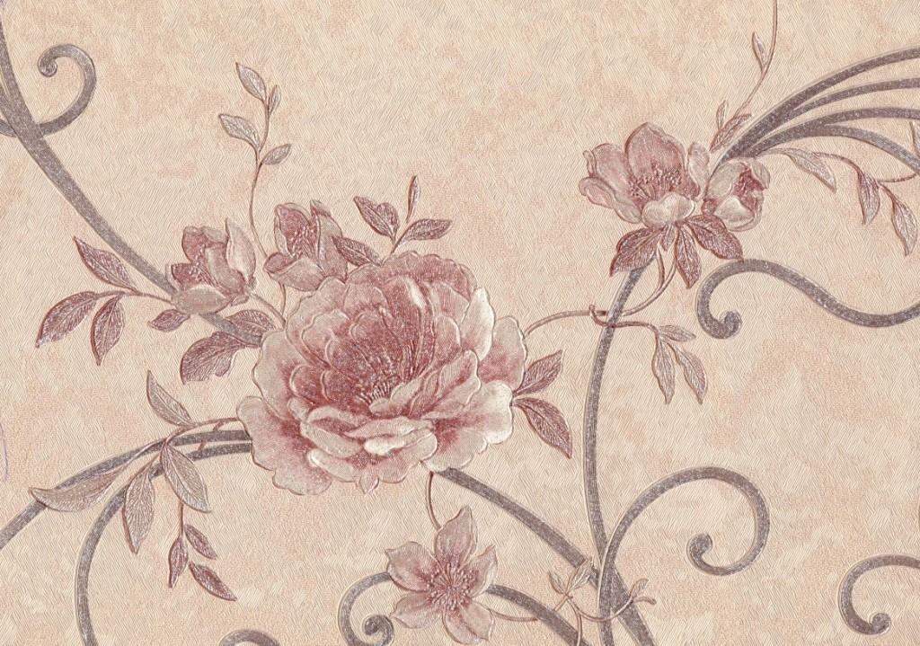 Елизавета. Артикул 1013-хх. Обои красивые, горячее тиснение. Варианты цветов: коричневый, темно-бежевый, молочный, голубой, бежевый, серо-бежевый.