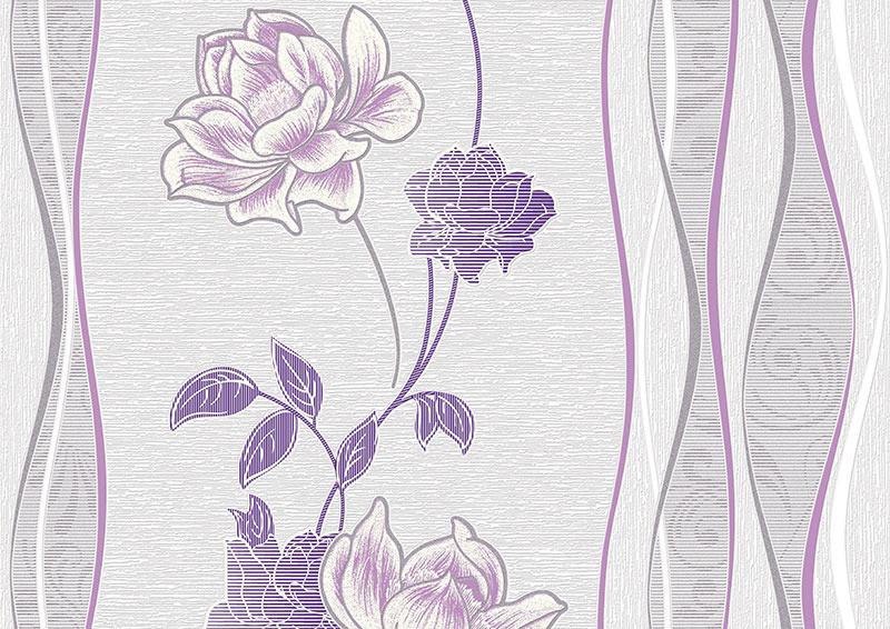 Лаура. Арт. 1080 -X. Обои для стен. Виниловые на бумажной основе. Варианты цветов: сиреневый,красный,бежево-голубой,черный.