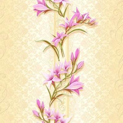 Ливадия. Артикул: 519-XX.  Обои для стен в прихожую и другие помещения . Бумажные тисненые окрашенные симплекс, флексографская печать. Варианты цветов: светло-бежевый.