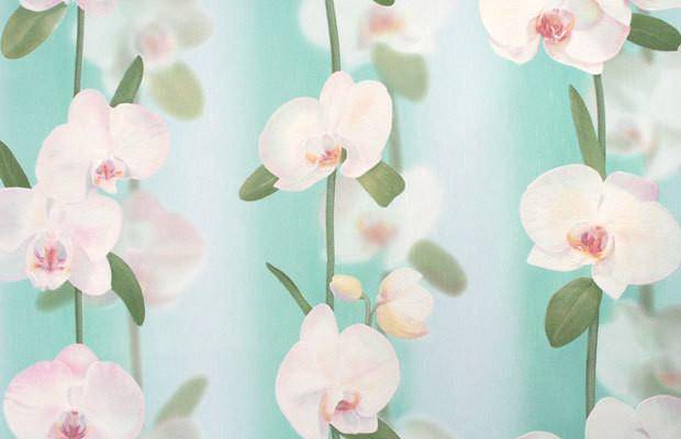 Орхидеи. Артикул: Е1760Х. Орхидеи-фон. Артикул: Е1770Х. Стильные обои.Винил горячего тиснения на флизилиновой основе.
