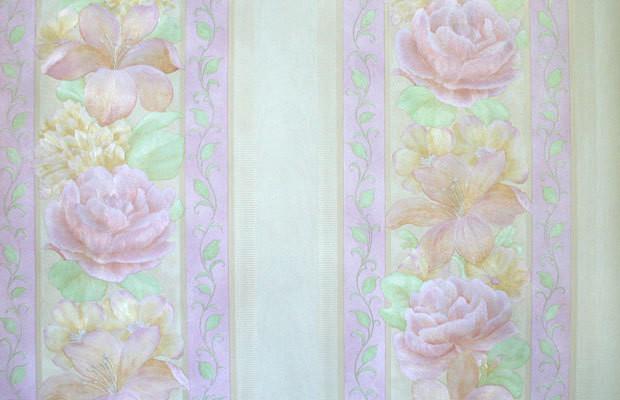 Светлана. Артикул: 1241Х.Светлана-полоса. Артикул: 1251Х. Обои стильные для спальни, горячее тиснение. Варианты цветов: розовый, сиреневый,бело-зеленый,венге.