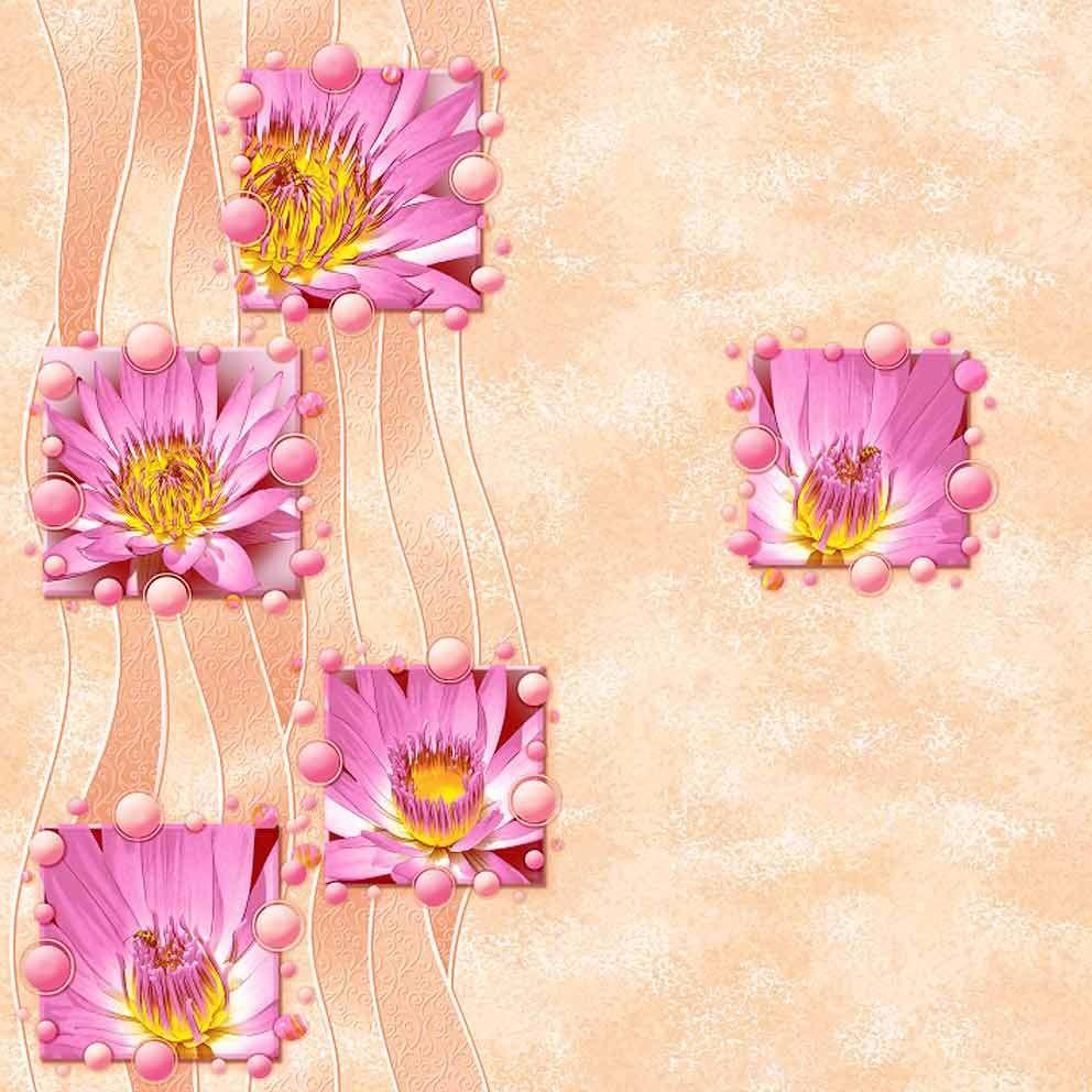 Радуга. Артикул: 422-X. Влагостойкие обои, флексопечать. Варианты цветов: розово-персиковый.