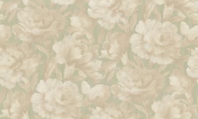 Пионы. Артикул: 4011-X. Красивые обои для стен. Варианты цветов: венге,зелено-золотой,ваниль,голубой. Горячее тиснение на флизелиновой основе. Размер: 1,06 х 10м.