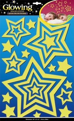 ЕVА 0404.Звездное сияние. Декоративные наклейки. Размеры: 41х29 см. Количество: 21 элемент. Материал: ПВХ, блестки, светящаяся, многослойная.