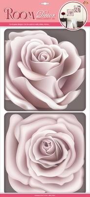РОА 0401 ( чайная роза ) Стикеры наклейки на стену. Размер:32*60 см.Материал-ПВХ, 3D, влагостойкие.Перламутровое покрытие. Количество элементов-2