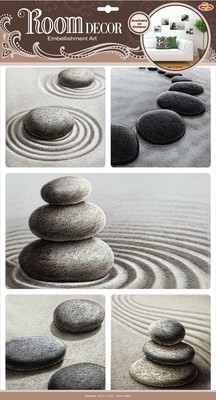 РОА 9101 ( сад камней ) Наклейки на стену. Размер- 32*50 см. Материал-ПВХ, имитация камня, 3D эффект. Влагостойкие. Количество элементов-5.