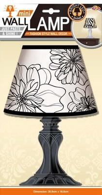 LDA 1304 Лампа. Стикеры наклейки на стену. Размер:18*31 см.Материал-ПВХ, светодиодные лампочки (светятся при нажатии),3D эффект. Количество элементов-1.
