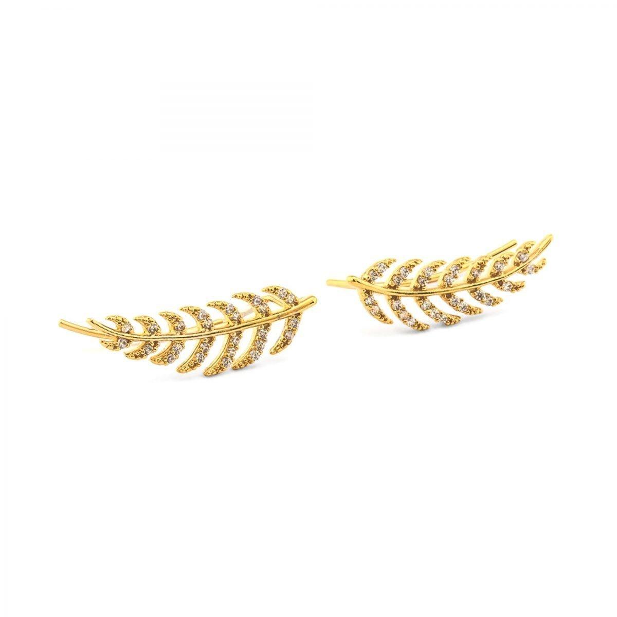 Ear Femme Leaf Crawler - 12k gold plated