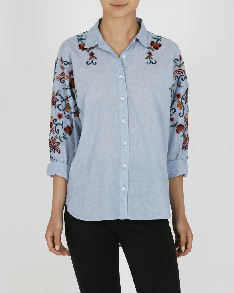 Hi-Lo Embroidered Shirt