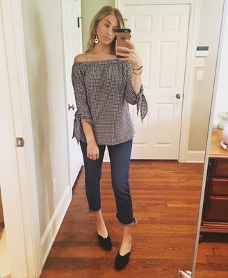 Off The Shoulder Tie Cuff Top