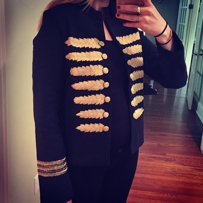 Gold Thread Open Jacket