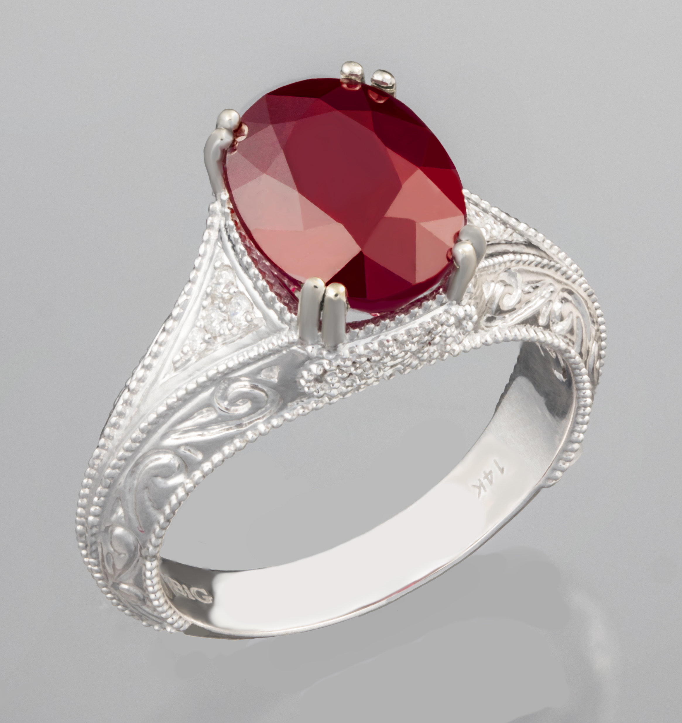 wedding red and rings fashion antique inspired bridal engagement diamond vintage