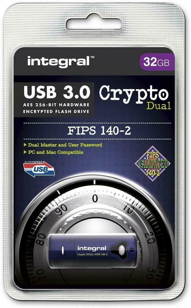 Crypto Integral USB 32GB USB 3.0 - Hardware Encryption