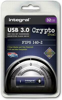 Crypto Integral USB 32GB USB 3.0 - Hardware Encryption