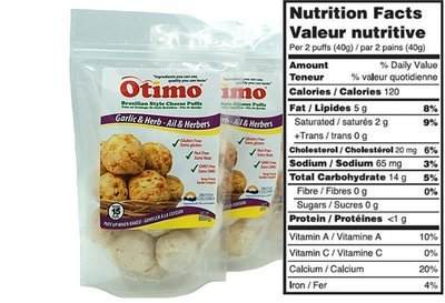 Brazilian Style Cheese Puffs Garlic & Herb (6 bags)