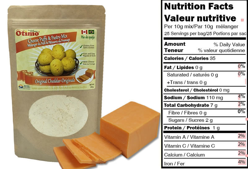 Mix for Brazilian Cheese Puffs- Original Cheddar (6 bags)
