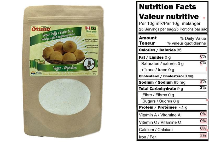 Mix for Brazilian Cheese Puffs- Vegan (6 bags)