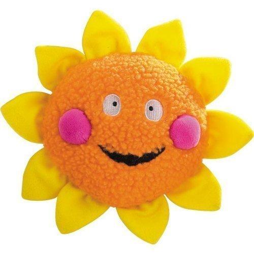 Zanies Berber Celestial Smiles Dog Toy, 8-Inch, Sun, Orange/Yellow (RPAL154)