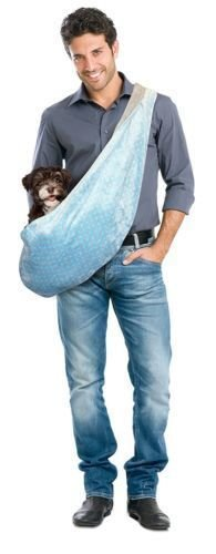 Precision Pet Snoozzy Baby Dog Sling Carrier, Small, Blue (RPAL32)