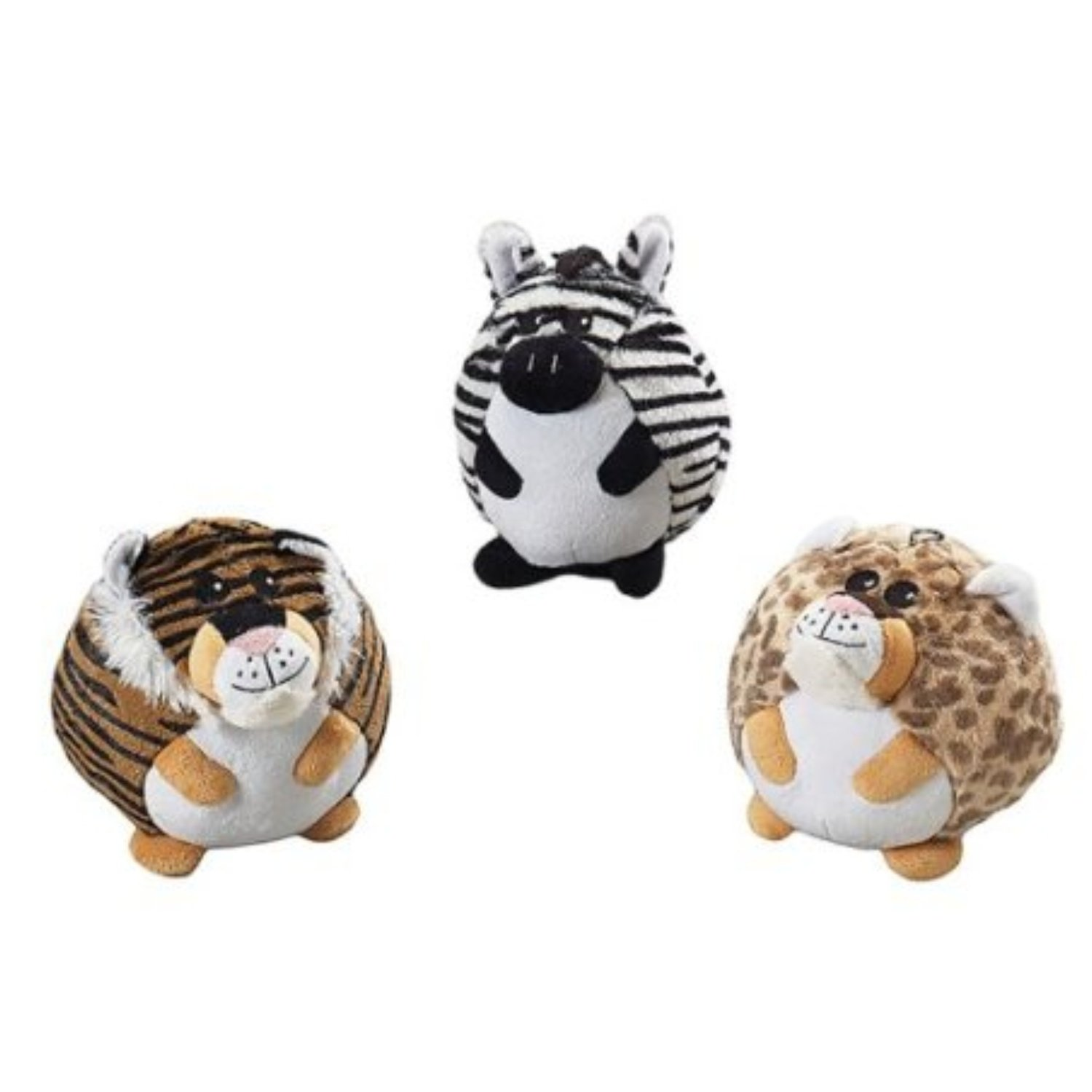 """Ethical Pet Butterballs Dog Toy, 6"""" Jungle (RPAL-A6&A7)"""