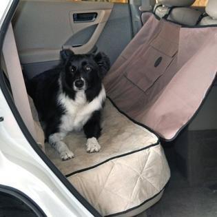 """K&H Deluxe Tan Car Seat Saver, 54"""" L X 58"""" W  (RPAL-Black Shelf)"""
