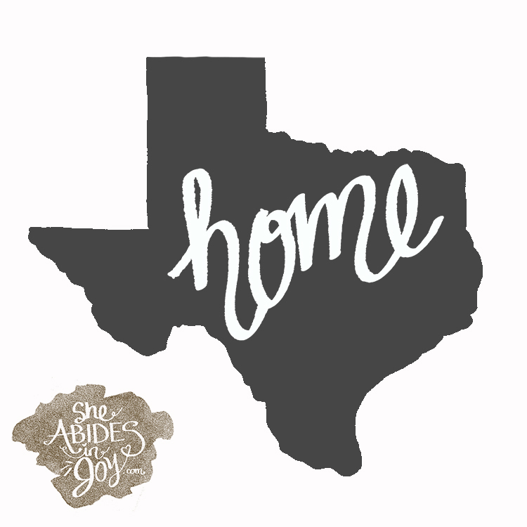 "Kitchen Towels - ""Texas home"" 00025"