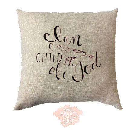 """Pillow Cover - """"Child of God"""" 00172"""