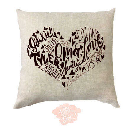"""Custom Design - """"Grandparent Love"""" Pillow Cover (various sizes and styles)"""