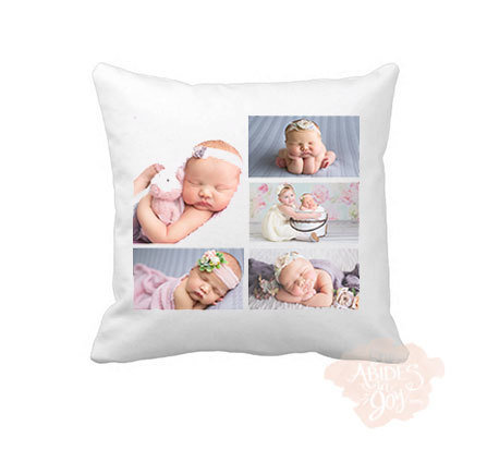 Custom Design - 5 photo collage pillow cover 00185