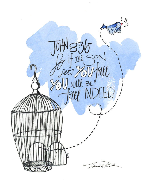 Digital Download - John 8:36 - Set free