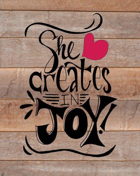 She Creates in Joy