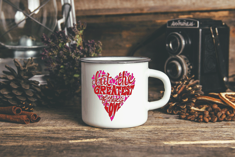 Metal Camp Mug - But the Greatest of These is Love 00375
