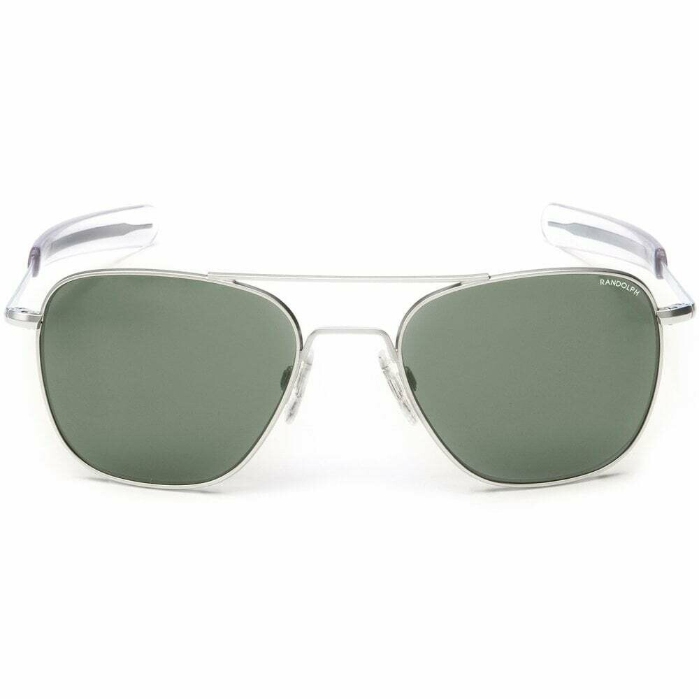 Randolph Aviator Skytec Matte Chrome Sunglasses