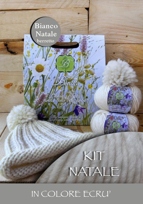 Kit Betulla Bianco Natale - Berretto col. Ecrù