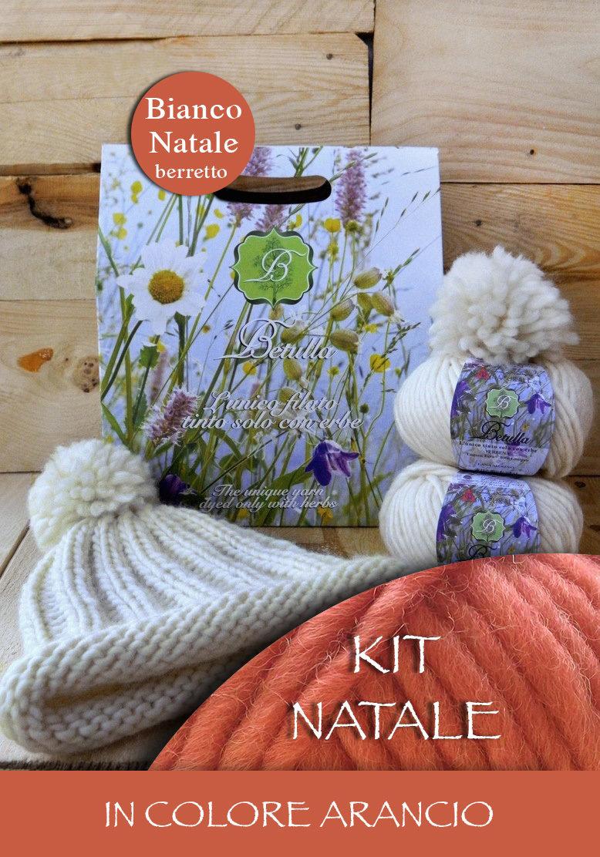 Kit Betulla Bianco Natale - Berretto col. Arancio