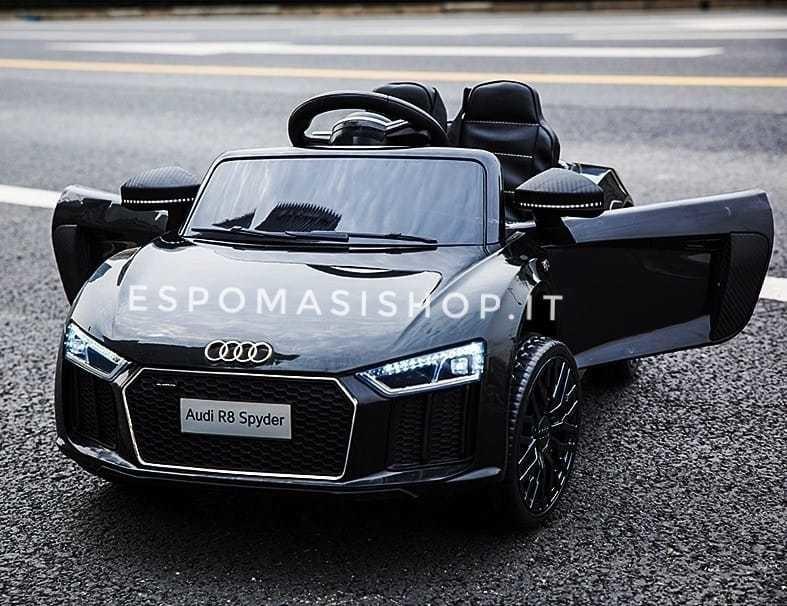 Auto Macchina Elettrica Per Bambini Audi R8 12v 2 Mini Posti Licenziata