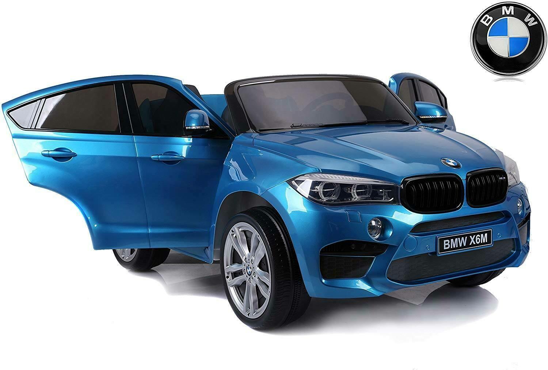 AUTO MACCHINA ELETTRICA PER BAMBINI BMW X6M 12V CON SEDILE IN PELLE Extra Large