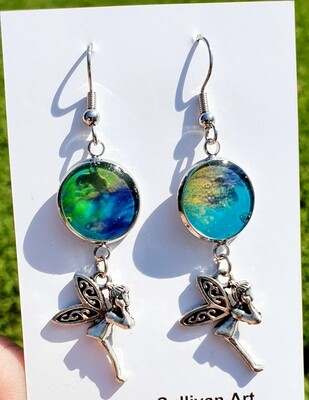 Earrings - fairy - ocean