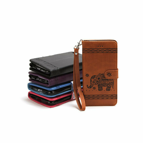 Samsung S10 Embossed Elephant Magnetic Book Case