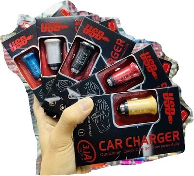 Metal 2 Ports USB Car Charger 3.1 A With Hammer