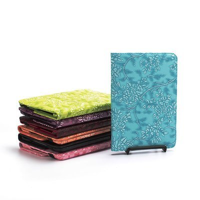 Apple iPad 2 3 4 Embossed Flower Rotating Book Case
