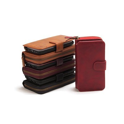 Apple iPhone 5 5s SE Classic Zip Wallet Case ( Leather Style )
