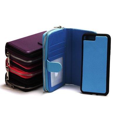 Apple iPhone 7 Plus/ 8 Plus Litchi Zip Wallet Case ( Litchi Style )