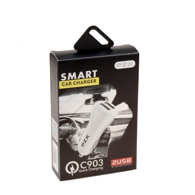 PZX Smart Car Charger ( 2 Ports Quick Charging )