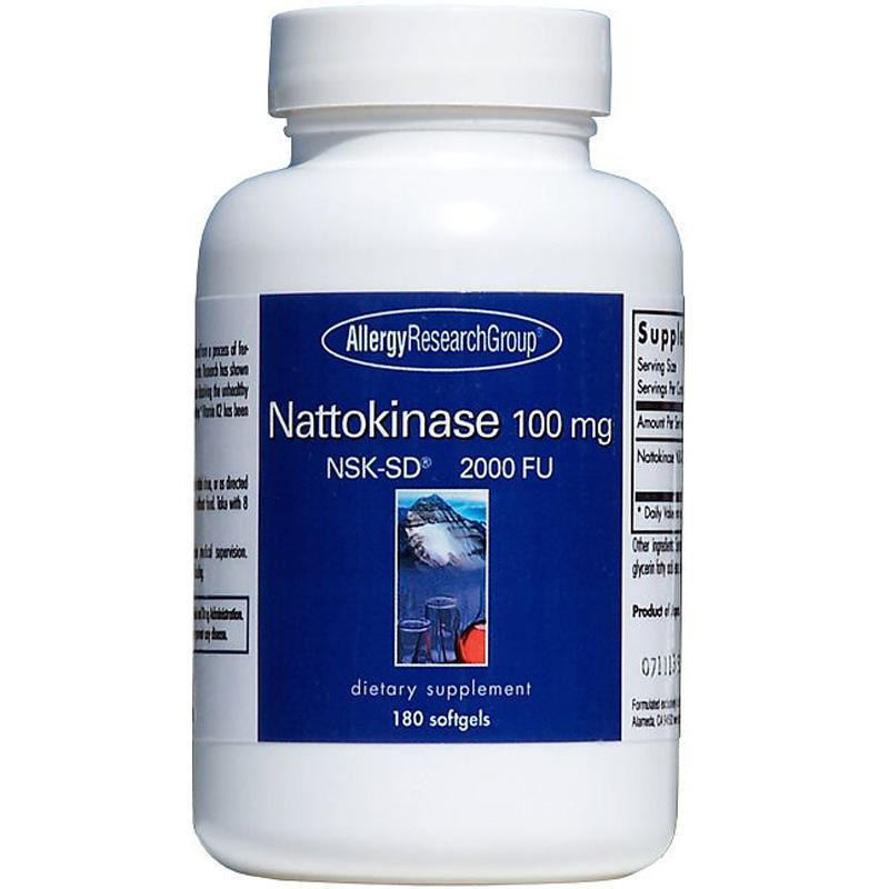 Nattokinase 100mg. 180 softgels