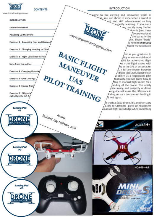 UAS - Drone Basic Flight Maneuvers Training -  with Mini Drone